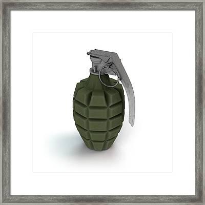 Mk 2 Grenade Framed Print by Mikkel Juul Jensen