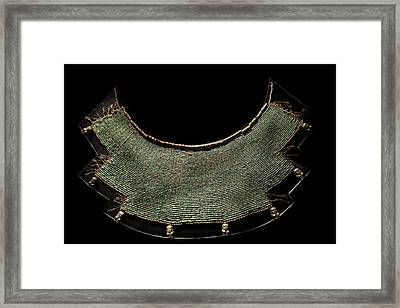 Moche Breastplate Framed Print by Science Photo Library