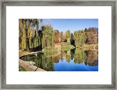 Moczydlo Park In Warsaw Framed Print by Artur Bogacki