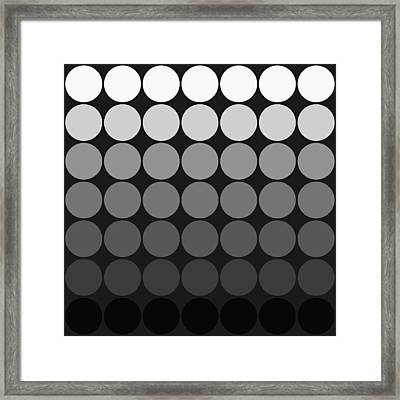 Mod Pop Gradient Circles Black And White Framed Print