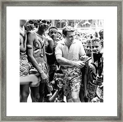 Model At A Carnival Framed Print by Richard Waite