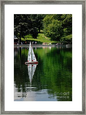 Model Boat Basin Central Park Framed Print