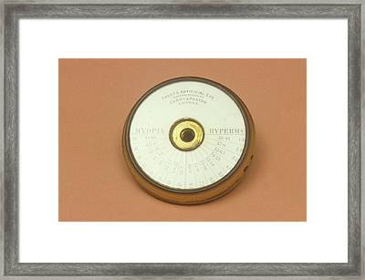Model Eye For Ophthalmology Framed Print
