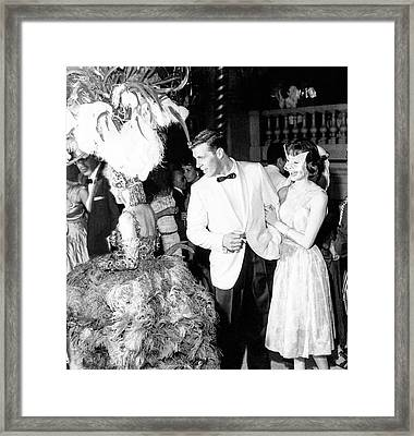 Model Wearing Lord West Tuxedo Framed Print by Richard Waite