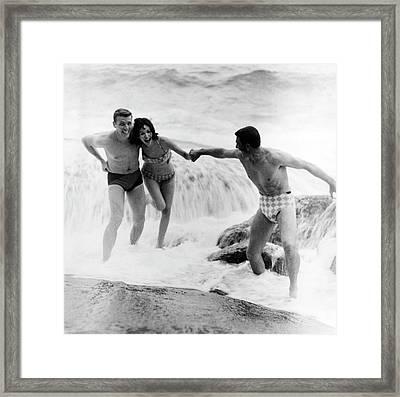 Models Wearing Swimwear Framed Print by Richard Waite