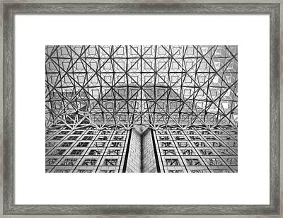 Modern Archtecture Framed Print by Rudy Umans