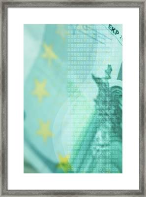 Modern Business Abstract Framed Print