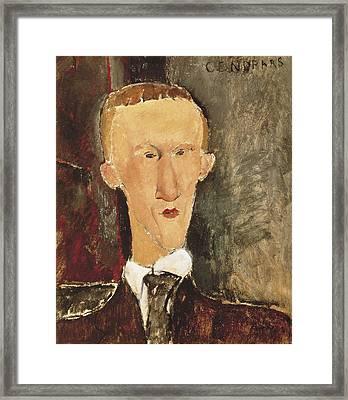 Modigliani, Amedeo 1884-1920. Portrait Framed Print