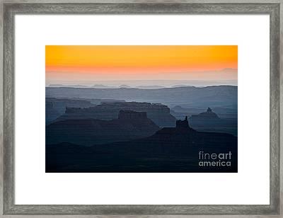 Moki Dugway Sunrise Framed Print by Inge Johnsson