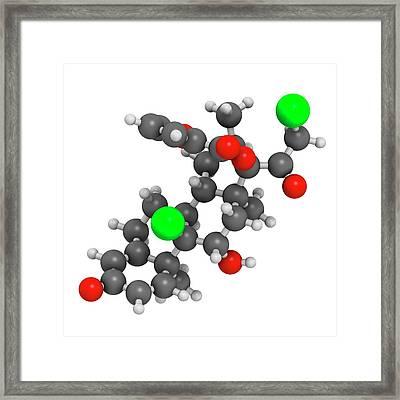 Mometasone Furoate Steroid Drug Molecule Framed Print