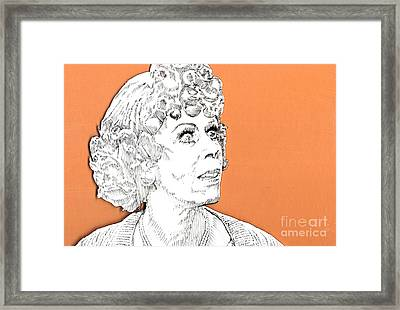 momma on Orange Framed Print by Jason Tricktop Matthews