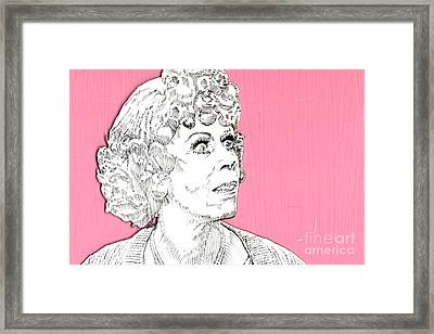 Momma On Pink Framed Print by Jason Tricktop Matthews