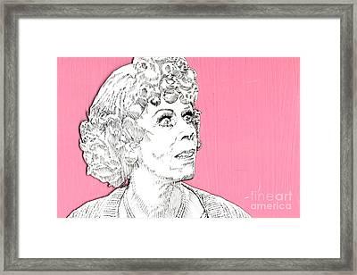Momma On Pink Framed Print