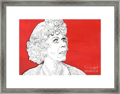 Momma On Red Framed Print