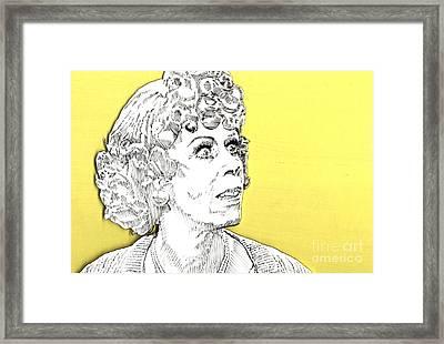 Momma On Yellow Framed Print