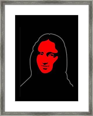Mona Framed Print by Asbjorn Lonvig