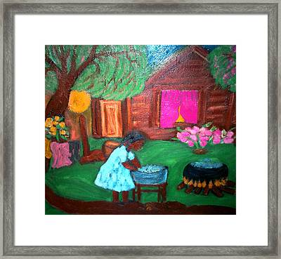 Framed Print featuring the painting Monday Morning by Mildred Chatman