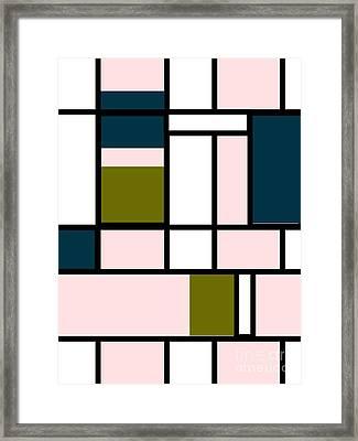 Mondrian Rectangles  Framed Print