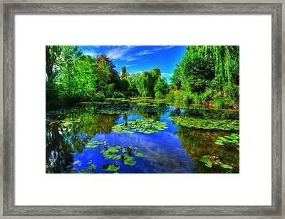 Monet's Lily Pond Framed Print by Midori Chan