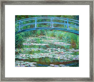 Framed Print featuring the photograph Monet's The Japanese Footbridge by Cora Wandel