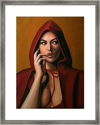 Monica Bellucci Framed Print by Paul Meijering