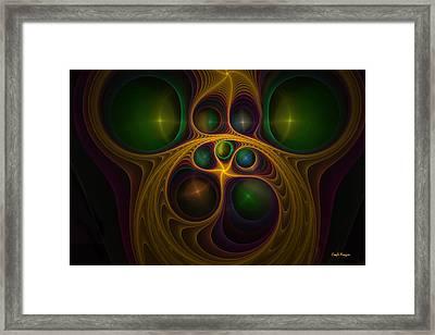 Monkey Face Framed Print by Coqle Aragrev