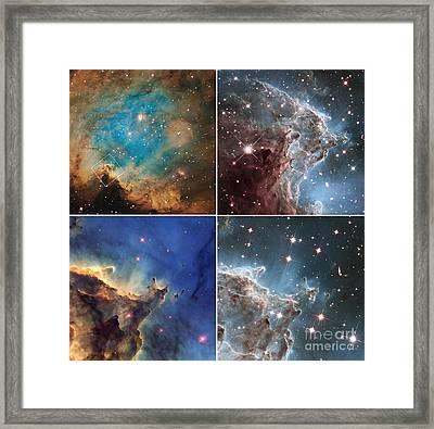 Monkey Head Nebula Framed Print by Science Source