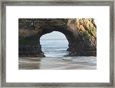 Monolith Natural Bridges State Beach  Framed Print