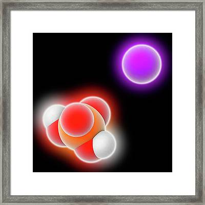 Monosodium Phosphate Molecule Framed Print by Laguna Design