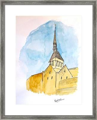 Mont Saint Micheal Framed Print