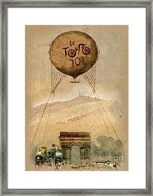 Mont Ventoux Framed Print by Mo T