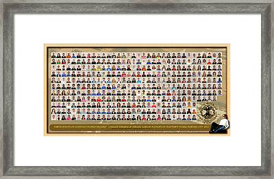 Montage With Background Framed Print