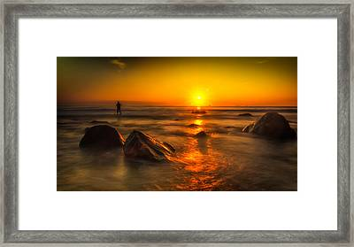 Montauk New York Summer Sunrise Framed Print