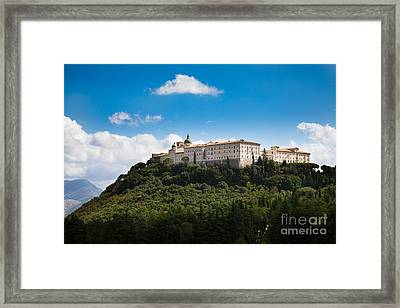Monte Cassino  Abbey On Top Of The Mountain Framed Print