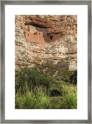 Montezuma Castle National Monument Framed Print by Brent Bergherm