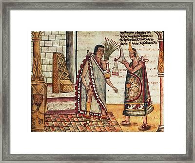 Montezuma II Coronation Framed Print