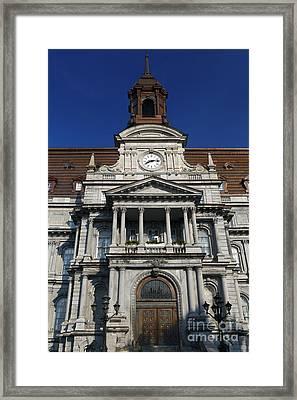 Montreal City Hall Framed Print