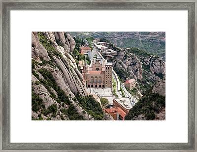 Montserrat Monastery From Above Framed Print by Artur Bogacki