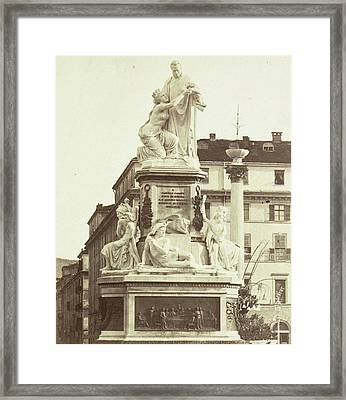 Monument To Camillo Benso Conte Di Cavour By Giovanni Framed Print by Artokoloro