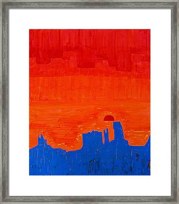 Monument Valley Original Painting Framed Print by Sol Luckman