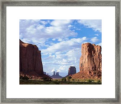 Monument Valley Framed Print by Pamela Schreckengost