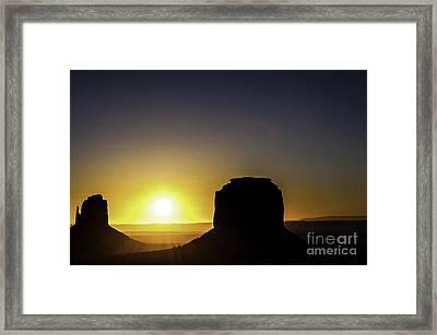 Monument Valley Sunrise Framed Print by Thomas R Fletcher