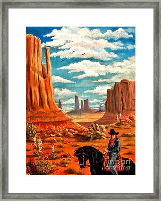 Monument Valley View Framed Print by Marilyn Smith