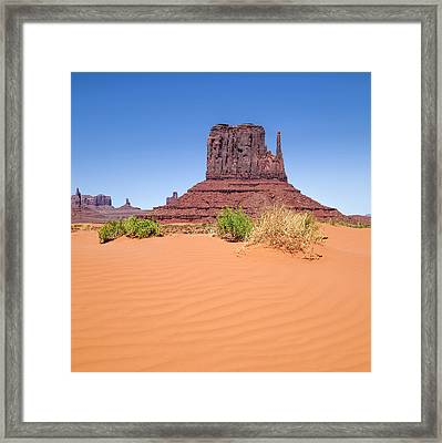 Monument Valley West Mitten Butte Framed Print by Melanie Viola