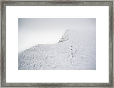 Moody Dramatic Low Cloud Inversion Over Mountain Winter Landscap Framed Print