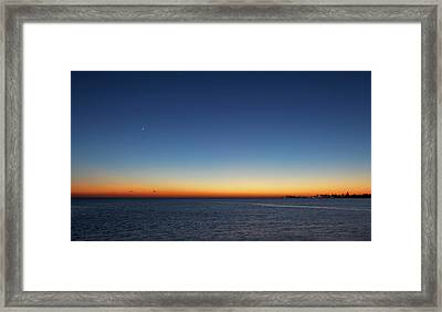Moon And Venus At Sunrise Framed Print
