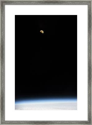 Moon Over Earth Framed Print