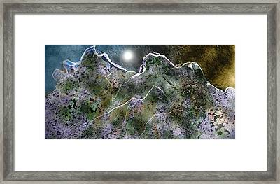 Moon Over Mountains Framed Print