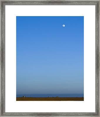 Moon Over Red Fields Framed Print by Alan Tonnesen