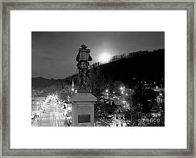 Moon Over Sylva 2004 Framed Print